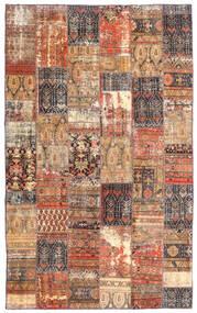 Patchwork - Persien/Iran Dywan 191X312 Nowoczesny Tkany Ręcznie Ciemnoczerwony/Brązowy (Wełna, Persja/Iran)