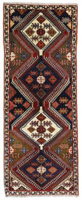 Kaszkaj Dywan 80X203 Orientalny Tkany Ręcznie Chodnik Ciemnobrązowy/Ciemnoczerwony (Wełna, Persja/Iran)