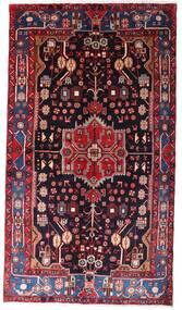 Nahawand Dywan 142X257 Orientalny Tkany Ręcznie Ciemnoczerwony/Czarny (Wełna, Persja/Iran)