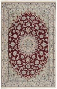 Nain 9La Dywan 116X176 Orientalny Tkany Ręcznie Jasnoszary/Ciemnoczerwony (Wełna/Jedwab, Persja/Iran)
