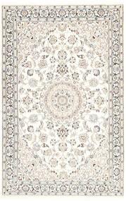 Nain 9La Dywan 116X181 Orientalny Tkany Ręcznie Beżowy/Jasnoszary/Biały/Creme (Wełna/Jedwab, Persja/Iran)