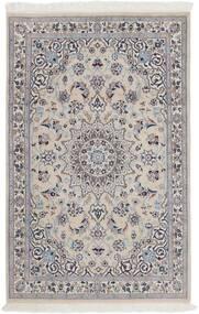 Nain 9La Dywan 116X180 Orientalny Tkany Ręcznie Jasnoszary/Ciemnobrązowy (Wełna/Jedwab, Persja/Iran)