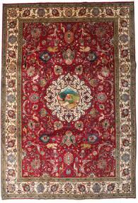 Tebriz Dywan 246X355 Orientalny Tkany Ręcznie Ciemnoczerwony/Ciemnobrązowy (Wełna, Persja/Iran)