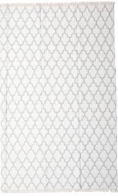 Bamboo Jedwab Kilim Dywan 200X300 Nowoczesny Tkany Ręcznie Biały/Creme/Beżowy/Jasnoszary (Wełna/Jedwab Bambusowy, Indie)