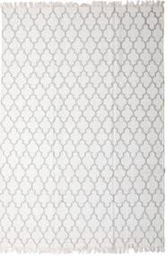 Bamboo Jedwab Kilim Dywan 200X300 Nowoczesny Tkany Ręcznie Jasnoszary/Biały/Creme (Wełna/Jedwab Bambusowy, Indie)