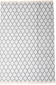 Bamboo Jedwab Kilim Dywan 200X300 Nowoczesny Tkany Ręcznie Biały/Creme/Jasnoszary (Wełna/Jedwab Bambusowy, Indie)