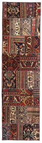 Patchwork - Persien/Iran Dywan 70X258 Nowoczesny Tkany Ręcznie Chodnik Ciemnoczerwony/Czarny (Wełna, Persja/Iran)