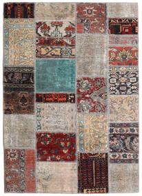 Patchwork - Persien/Iran Dywan 141X198 Nowoczesny Tkany Ręcznie Jasnoszary/Ciemnobrązowy (Wełna, Persja/Iran)