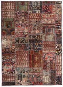 Patchwork - Persien/Iran Dywan 144X201 Nowoczesny Tkany Ręcznie Ciemnoczerwony/Ciemnobrązowy/Jasnobrązowy (Wełna, Persja/Iran)