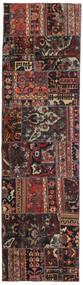 Patchwork - Persien/Iran Dywan 72X256 Nowoczesny Tkany Ręcznie Chodnik Czarny/Ciemnoczerwony (Wełna, Persja/Iran)