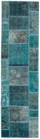 Patchwork - Persien/Iran Dywan 80X296 Nowoczesny Tkany Ręcznie Chodnik Ciemny Turkus/Turkusowy Niebieski (Wełna, Persja/Iran)