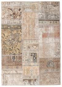 Patchwork - Persien/Iran Dywan 108X156 Nowoczesny Tkany Ręcznie Jasnoszary/Biały/Creme (Wełna, Persja/Iran)