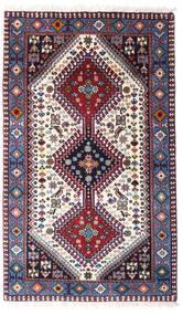 Yalameh Dywan 80X132 Orientalny Tkany Ręcznie Ciemnofioletowy/Beżowy (Wełna, Persja/Iran)