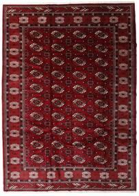 Turkmeński Dywan 204X285 Orientalny Tkany Ręcznie Ciemnoczerwony/Ciemnobrązowy (Wełna, Persja/Iran)