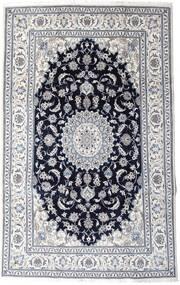 Nain Dywan 197X313 Orientalny Tkany Ręcznie Jasnoszary/Czarny (Wełna, Persja/Iran)