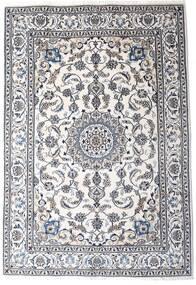 Nain Dywan 198X290 Orientalny Tkany Ręcznie Beżowy/Ciemnoszary/Biały/Creme (Wełna, Persja/Iran)