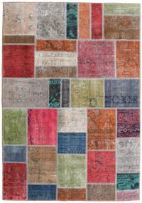 Patchwork - Persien/Iran Dywan 163X234 Nowoczesny Tkany Ręcznie Jasnoszary/Rdzawy/Czerwony (Wełna, Persja/Iran)