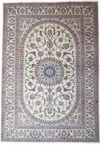 Nain Dywan 245X353 Orientalny Tkany Ręcznie Jasnoszary/Ciemnoszary (Wełna, Persja/Iran)