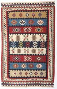 Kilim Vintage Dywan 153X235 Orientalny Tkany Ręcznie Ciemnoczerwony/Ciemnofioletowy (Wełna, Persja/Iran)