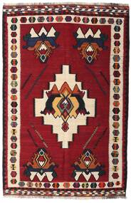 Kilim Vintage Dywan 153X232 Orientalny Tkany Ręcznie Ciemnoczerwony/Ciemnobrązowy (Wełna, Persja/Iran)
