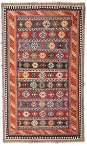 Kilim Vintage Dywan 162X270 Orientalny Tkany Ręcznie Ciemnoczerwony/Ciemnobrązowy (Wełna, Persja/Iran)