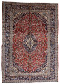 Keszan Dywan 287X403 Orientalny Tkany Ręcznie Ciemnoczerwony/Ciemnobrązowy Duży (Wełna, Persja/Iran)