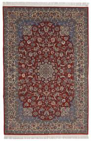 Isfahan Sherkat Farsh Dywan 200X300 Orientalny Tkany Ręcznie Ciemnoczerwony/Ciemnobrązowy (Wełna/Jedwab, Persja/Iran)