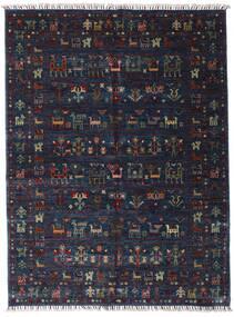 Shabargan Dywan 154X205 Nowoczesny Tkany Ręcznie Ciemnofioletowy/Ciemnoniebieski (Wełna, Afganistan)
