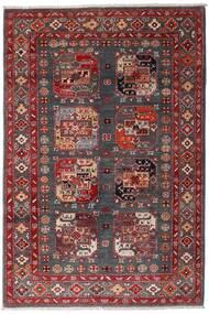 Kazak Dywan 117X173 Orientalny Tkany Ręcznie Ciemnoczerwony/Ciemnobrązowy (Wełna, Afganistan)