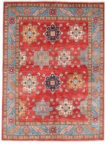 Kazak Dywan 151X206 Orientalny Tkany Ręcznie Ciemnoczerwony/Rdzawy/Czerwony (Wełna, Afganistan)