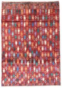Moroccan Berber - Afghanistan Dywan 115X169 Nowoczesny Tkany Ręcznie Ciemnoczerwony/Rdzawy/Czerwony (Wełna, Afganistan)