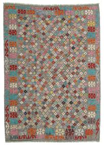 Kilim Afgan Old Style Dywan 168X236 Orientalny Tkany Ręcznie Jasnoszary/Ciemnoszary (Wełna, Afganistan)
