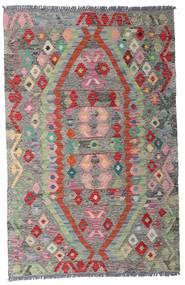 Kilim Afgan Old Style Dywan 96X149 Orientalny Tkany Ręcznie Jasnoszary/Ciemnoszary (Wełna, Afganistan)