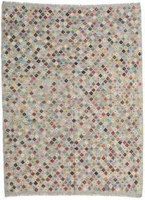 Kilim Afgan Old Style Dywan 211X282 Orientalny Tkany Ręcznie Jasnoszary (Wełna, Afganistan)