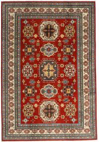 Kazak Dywan 201X293 Orientalny Tkany Ręcznie Ciemnoczerwony/Ciemnoszary (Wełna, Afganistan)