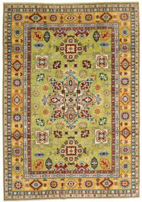 Kazak Dywan 205X289 Orientalny Tkany Ręcznie Ciemnoczerwony/Żółty (Wełna, Afganistan)