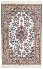 Isfahan Jedwabna Osnowa Sygnowany Intashari Dywan 109X166 Orientalny Tkany Ręcznie Jasnoszary/Biały/Creme (Wełna/Jedwab, Persja/Iran)