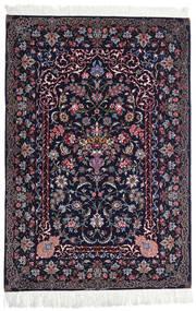 Isfahan Jedwabna Osnowa Dywan 110X160 Orientalny Tkany Ręcznie Czarny/Ciemnofioletowy (Wełna/Jedwab, Persja/Iran)