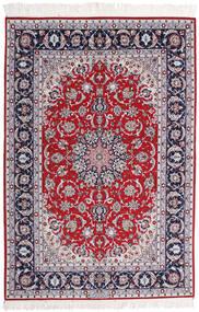Isfahan Jedwabna Osnowa Sygnowany Ansari Dywan 158X237 Orientalny Tkany Ręcznie Jasnofioletowy/Ciemnoszary (Wełna/Jedwab, Persja/Iran)