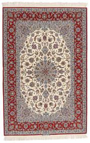 Isfahan Jedwabna Osnowa Sygnowany Entashari Dywan 161X241 Orientalny Tkany Ręcznie Beżowy/Jasnoszary/Ciemnobrązowy (Wełna/Jedwab, Persja/Iran)