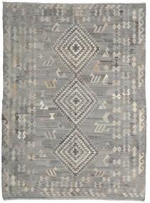 Kilim Ariana Dywan 216X285 Nowoczesny Tkany Ręcznie Jasnoszary/Ciemnoszary (Wełna, Afganistan)