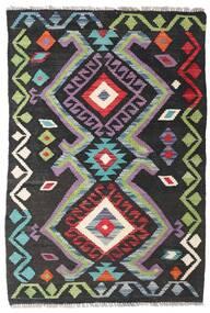 Kilim Afgan Old Style Dywan 75X113 Orientalny Tkany Ręcznie Ciemnoszary/Czarny (Wełna, Afganistan)