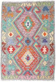 Kilim Afgan Old Style Dywan 86X124 Orientalny Tkany Ręcznie Jasnoszary (Wełna, Afganistan)