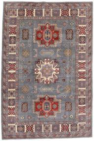 Kazak Dywan 195X292 Orientalny Tkany Ręcznie Jasnoszary/Ciemnoczerwony (Wełna, Afganistan)