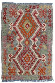 Kilim Afgan Old Style Dywan 80X118 Orientalny Tkany Ręcznie Ciemnoszary/Ciemnoczerwony/Jasnoszary (Wełna, Afganistan)