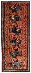 Afszar Dywan 107X265 Orientalny Tkany Ręcznie Chodnik Ciemnobrązowy/Czerwony (Wełna, Persja/Iran)