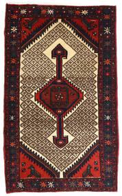 Hamadan Dywan 82X132 Orientalny Tkany Ręcznie Ciemnobrązowy/Ciemnoczerwony (Wełna, Persja/Iran)