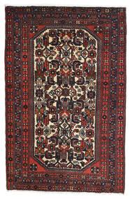 Rudbar Dywan 81X125 Orientalny Tkany Ręcznie Czarny/Ciemnoczerwony (Wełna, Persja/Iran)