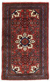 Asadabad Dywan 73X121 Orientalny Tkany Ręcznie Czarny/Ciemnoczerwony/Rdzawy/Czerwony (Wełna, Persja/Iran)