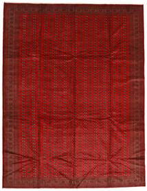 Turkmeński Dywan 302X388 Orientalny Tkany Ręcznie Rdzawy/Czerwony/Ciemnoczerwony Duży (Wełna, Persja/Iran)
